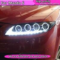 Car Styling for Mazda 6 Headlights 2004 2013 Mazda6 LED Headlight Universal Type DRL Bi Xenon Lens High Low Beam Parking
