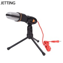 Condenser Voice Studio Recording Podcast Microphone 3.5mm With Stand Holder Mikrafone For Computer PC Notebook Laptop(China)