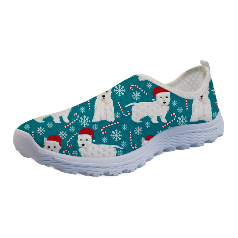 Colorful Dog Camouflage Print Women Mesh Slip On Unique Personality Water Shoes