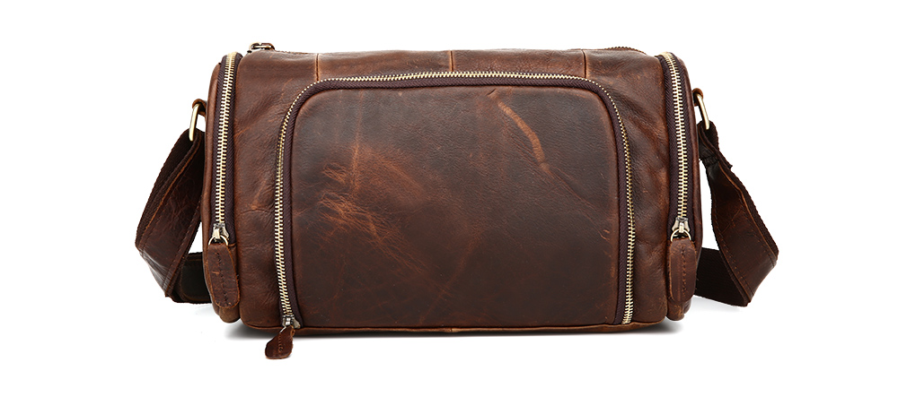 Nesitu Vintage Real Skin Genuine Leather Men Messenger Bags #M349