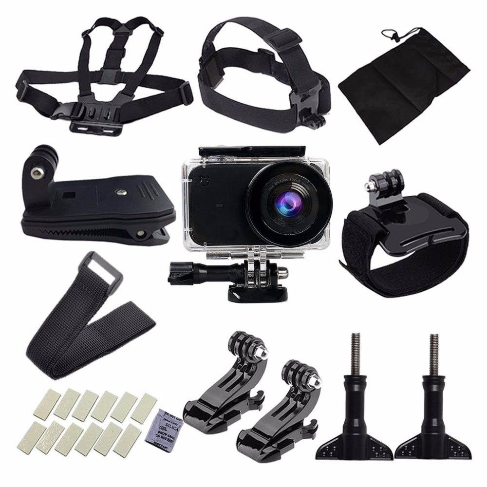 Large Carry Case Camera Accessories Kit for Xiaomi Yi Action Video Camera Diving Swimming Surfing Traveling Wear Set