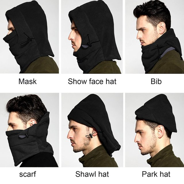 Winter Warm Fleece Full Face Cycling Mask Windproof Double Layer Riding Hat Multifunction Outdoor Sport Cap For Men & Women 3