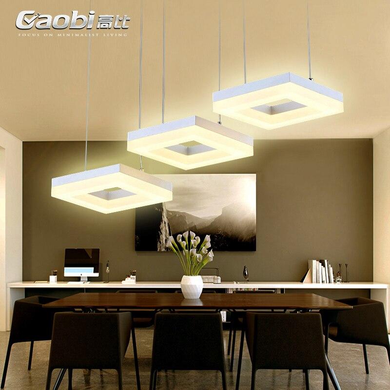 Nordique appareils LED restaurant bar hanging lumières Américain rural Acrylique salle à manger lampes éclairage moderne Lampes Suspendues