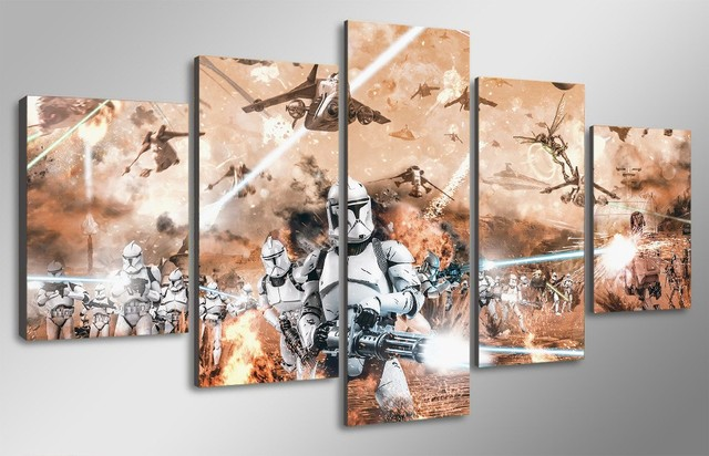 Star Wars Clone Troopers Framed Canvas