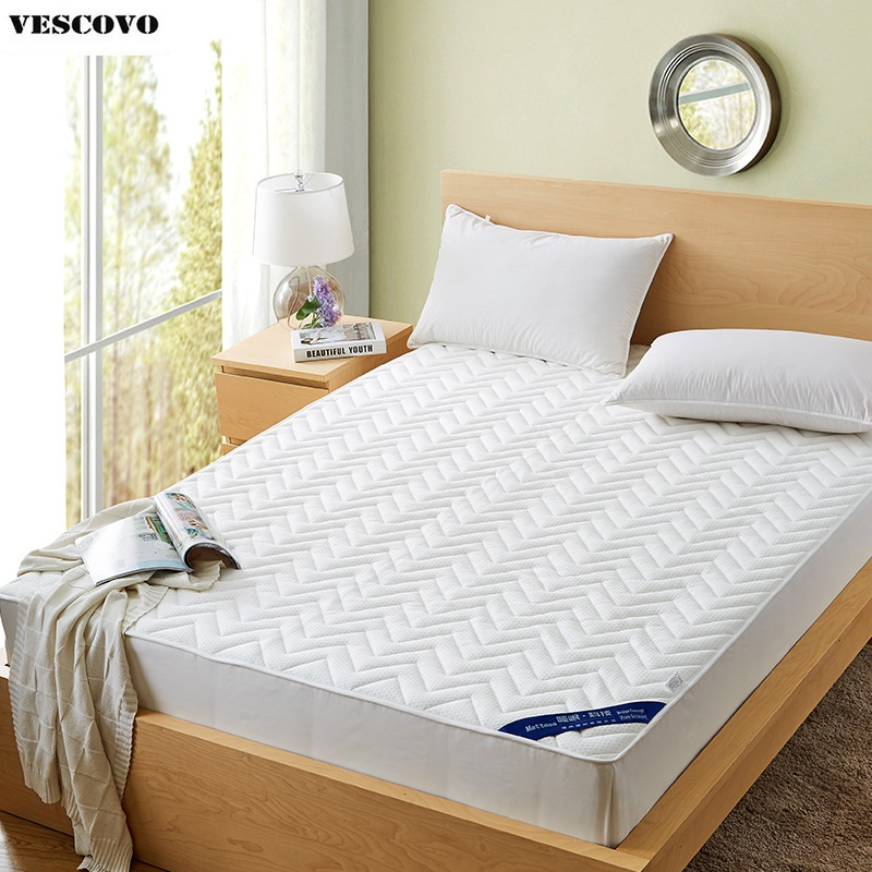 100 Cotton Bed Protection Pad Mattress Cover Topper Stuffing Filling Rubber Quilted Fitted