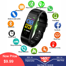 Купить с кэшбэком Hembeer Smart Band Men Women Heart Rate Blood Pressure Fitness Tracker Bracelet Sports Smart Watch pk xiaomi mi band 2 fitbits