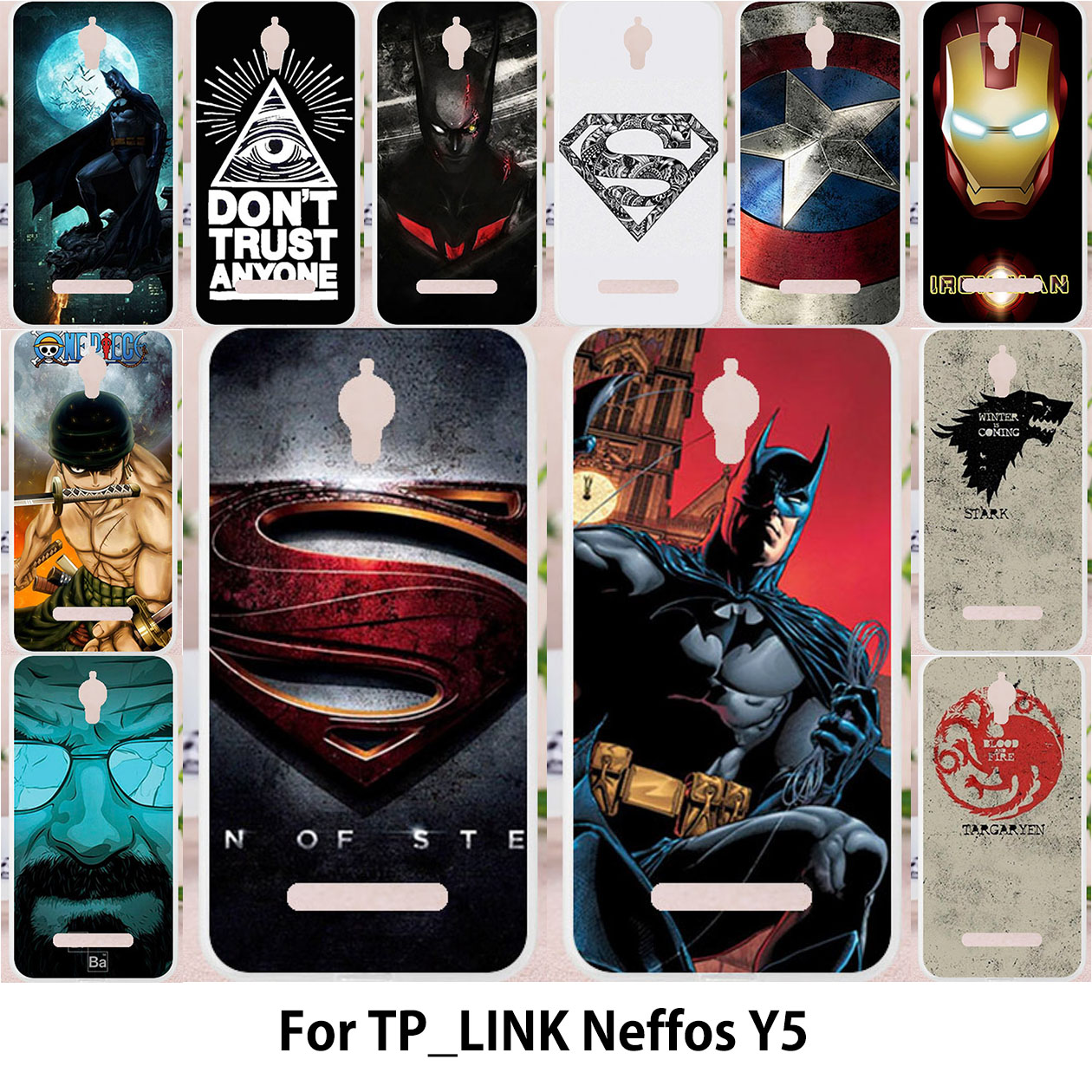 TAOYUNXI For TP-LINK Neffos Y5 case Silicon Case For TPLINK Neffos Y5 TP802A TP LINK Cover Shield Bat Tower Patterned Man Covers