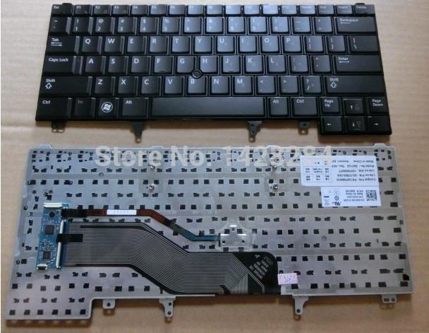 New original US Black Keyboard For DELL Latitude E5420 E6220 E6230 E6320 E6330 E5430 Laptop