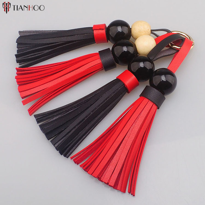 5pcs/Lot 21cm Shoulder Bag Tassel Fashion Jewelry Leather Tassels For Handle Bag Tassels Cellphone Straps Pendant Accessories