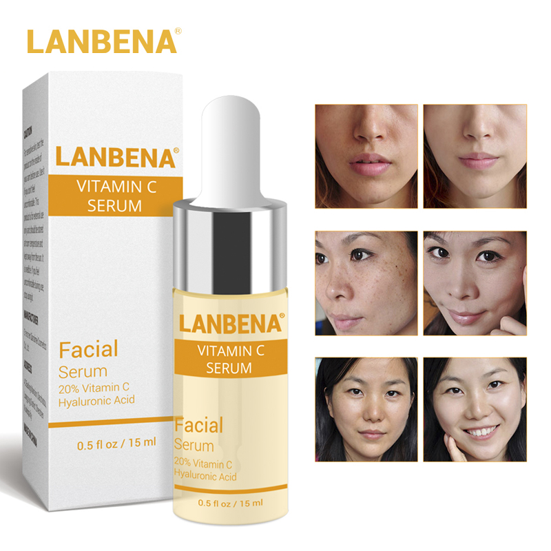 LANBENA Vitamin C Serum VC Essence Remove Dark Spot Freckle Speckle Fade Ageless Whitening Skin Care Whitening Face Anti Winkles сыворотка it s skin vc effector with vitamin c derivatives