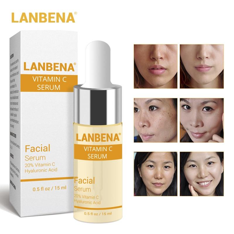 LANBENA Vitamin C Serum VC Essence Remove Dark Spot Freckle Speckle Fade Ageless Whitening Skin Care Whitening Face Anti Winkles
