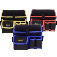 Waist Canvas Carpenter Tool Bag Multi Functional Repair Bag With Belt Pouch Holder Pack Canvas Electrical