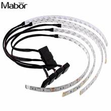 Mabo водонепроницаемый 60 см яркий гибкий 5050 SMD 18 светодиодный чехол светильник полосы для компьютерного декора