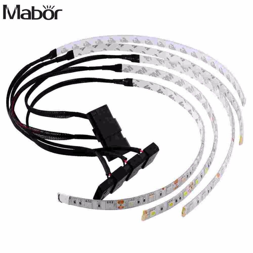Mabor Impermeabile 60 CENTIMETRI Luminosa Flessibile 5050 SMD 18 LED Caso di Luce di Striscia Per Il Calcolatore Decorazione
