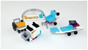 Image 5 - CX 01039 932Pcs Model building kits Compatible with  girls friends 41318 Heart Lake Love Hospital 3D Bricks figure toys