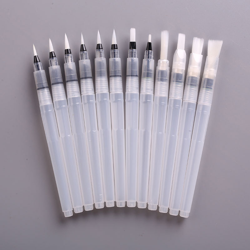 Nylon Hair Refillable Water Brushes 6 Pcs Art Supplies Pilot Water Brush Drawing Painting Ink Pens 1 Set Office Stationery