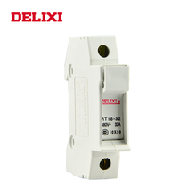 DELIXI RT18-32 AC 380V 1P 2P 3P 32A 380V  DIN Rail Mount cylinder fuse base Suitable for 10x38MM FUSE Without indicator light