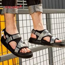 AOKANG Summer shoes men leisure comfortable men sandals buckle strap fashion men beach shoes casual breathable men shoes