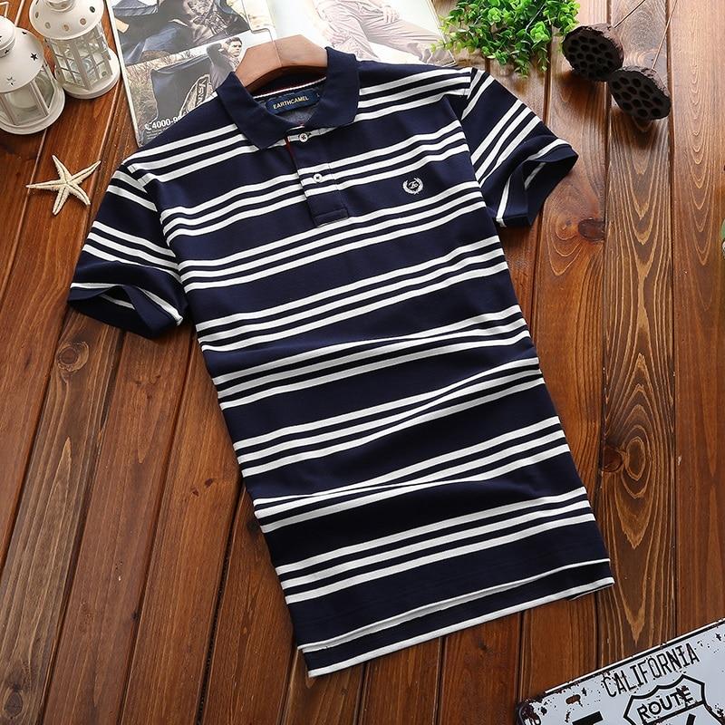 Envmenst 2017 Men Cotton Polo Shirt New Fashion Clothing Striped Polo short sleeves shirt Camisa Polo M~3XL