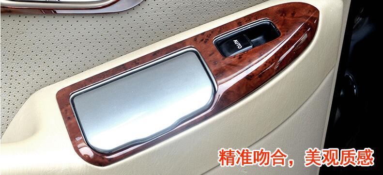 De luxe En Bois Chrome Pour TOYOTA Prado 2003-2009 Voiture Intérieur Décoratif Cadre capots de bordure Car Styling Auto Accessoires - 2