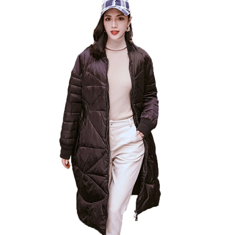Harajuku Women Casual   Down   Jacket High Quality Slim Vintage White Duck   Down   Jacket Women Long Winter   Down     Coat   Parkas YP2157
