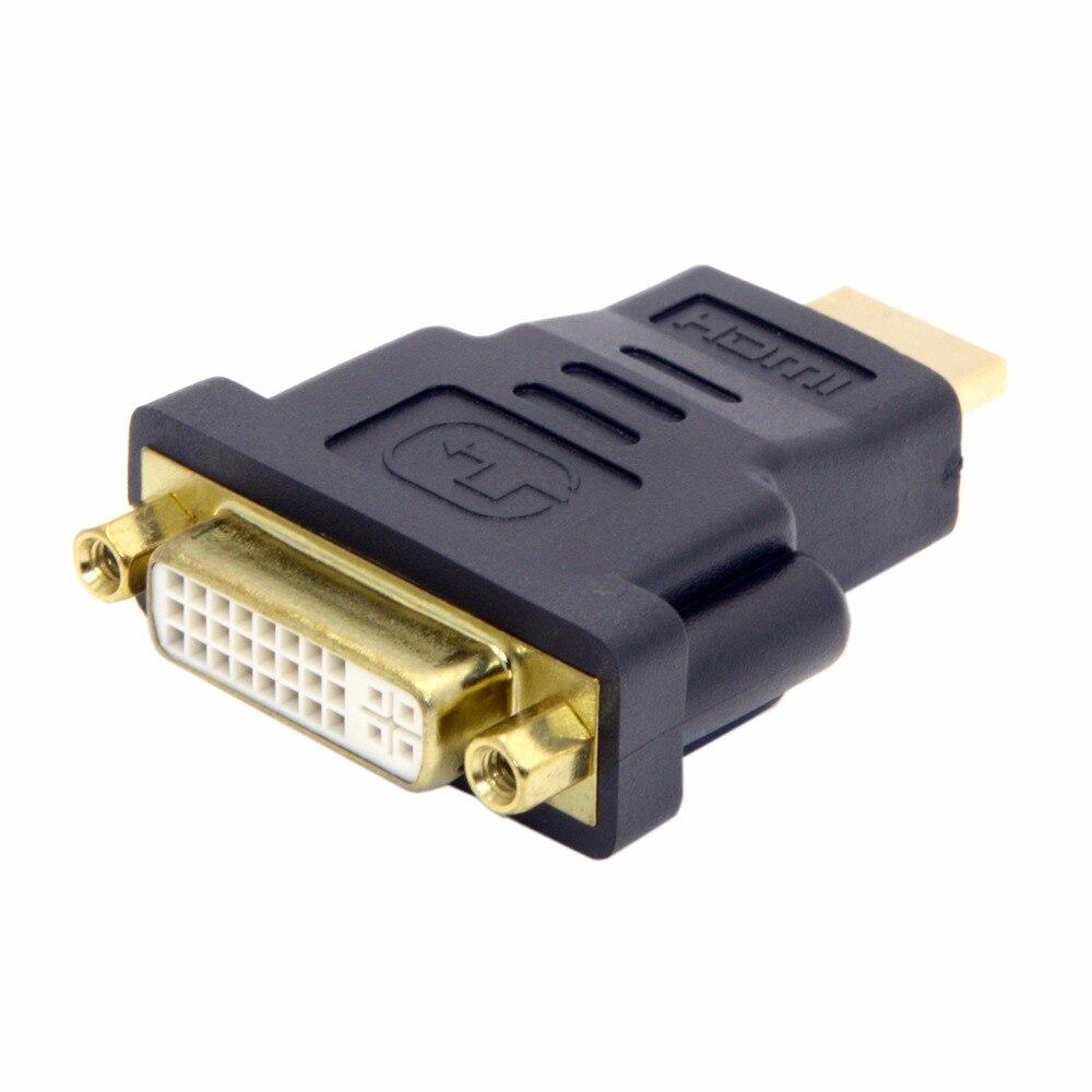 DVI-D DVI Female to HDMI Male Adapter Converter For HDTV ...