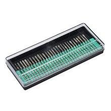 Mini mèches diamantées, outils rotatifs, 30 pièces, 2.35mm, tige Abrasive en bois, pierre, gravure pour outils électriques Dremel, 30 pièces