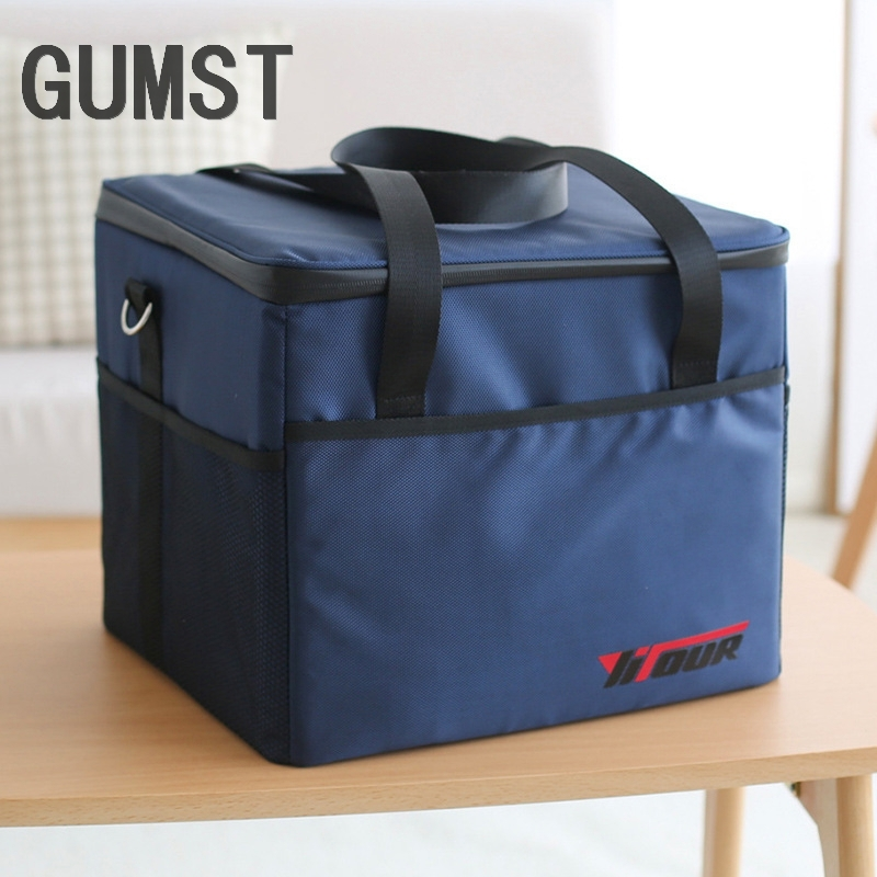 GUMST 37L Cooler Bag High quality Car ice pack picnic Large cooler bags Insulation package thermo ThermaBag refrigerator|Cooler Bags| |  - title=