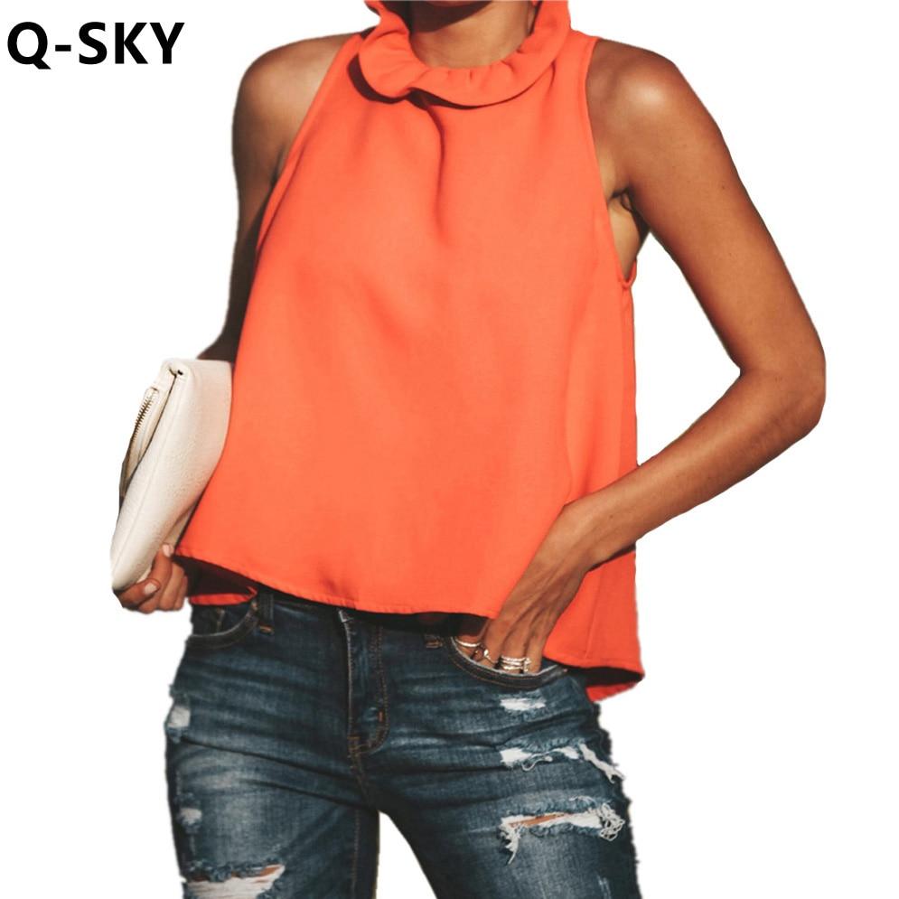 T Shirt Summer Tops For Women 2018 Sleeveless O Neck Short
