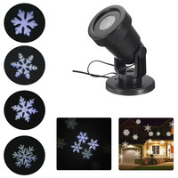 Outdoor Waterproof Moving Laser Snowflake Projector LED Lights Christmas Landscape Xmas Holiday Home Party Decor Lamp