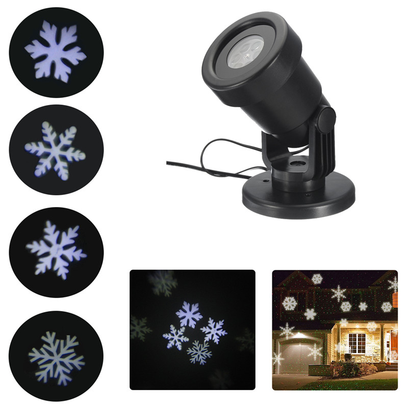 Outdoor Waterproof Moving Laser Snowflake Projector LED Lights Christmas Landscape Xmas Holiday Home Party Decor Lamp white snowflake led stage lights waterproof projector lamps outdoor indoor decor spotlights for christmas party holiday lights