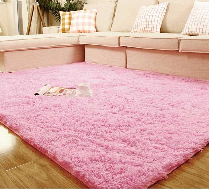 ჱ1pc 80*120cm Super Soft Plush Fabric Solid Rectangle Carpet Floor ...