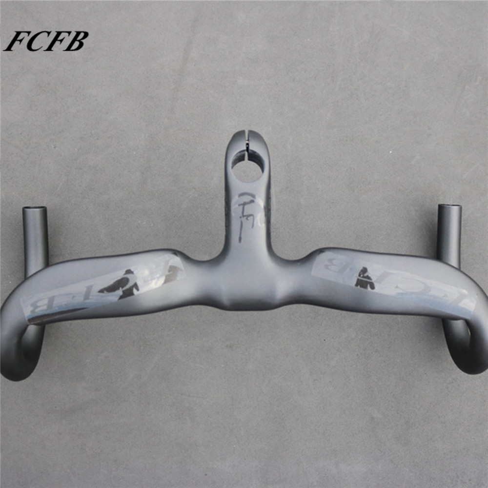 2016 NEW FCFB FW carbon road handlebar bicycle carbon integral handlebar Internal matt bar+glossy sticker Free shipping free shipping sale hot fcfb fw road handlebar new top carbon fiber road bends reach 80mm dorp 128mm carbon handlebar