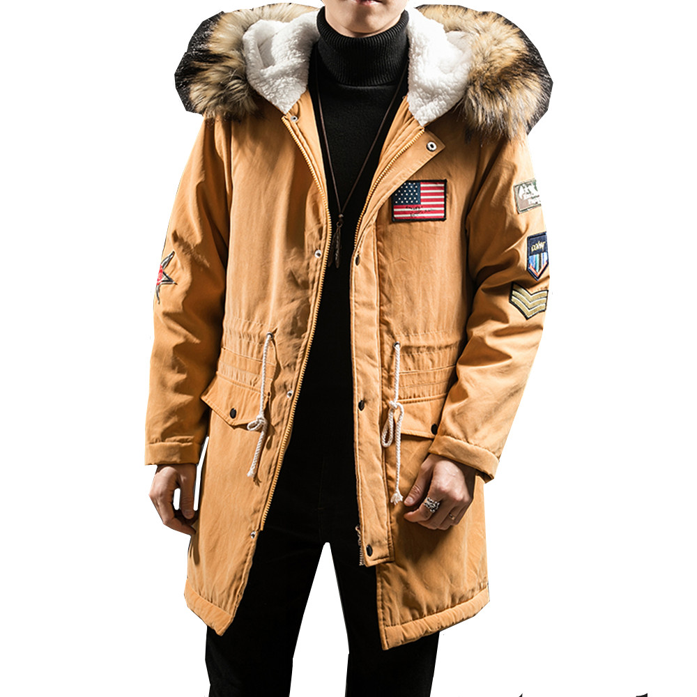 2018 New Fashion Hooded Winter Jacket Men Thick Warm Fur ...