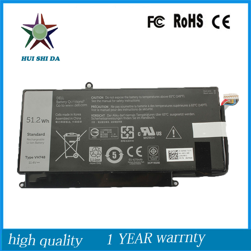 14.8v 4400Mah New  Original   Laptop Battery for Dell  Vostro 14-5439 5460 5470 5560 n241h laptop battery for dell vostro 1310 1510 6 cell 11 1v 48wh type k738h