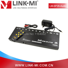 LINK-MI LM-SP28-Audio 4Kx2K IR 2×8 HDMI Splitter With 50m UTP Input and Optical Audio Extraction