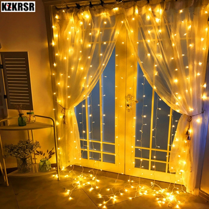 3x1/3x2/3x3/6x3m led icicle curtain Waterproof fairy string light Christmas light for Wedding home garden party decor lamps цена