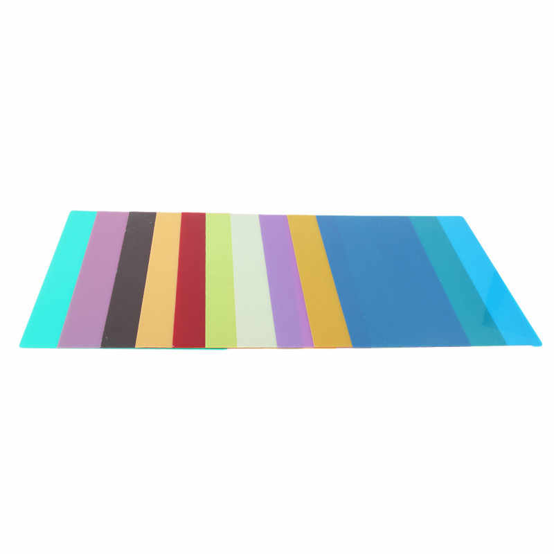 1Pcs Children Building Model Sheet Infant Kids DIY Handmade PVC Transparent Sheet Colorful Sheet in Thickness 0.3mm 10 Choices