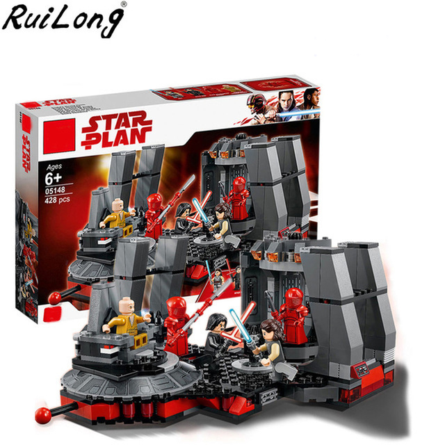New Star Wars Snoke's Throne Room Set Compatible Legoing StarWars 75216 Model Building Blocks Bricks Children Toys Christmas 2018 new 05008 star wars force awaken infiltrator building blocks bricks toys compatible with legoingly starwars children model
