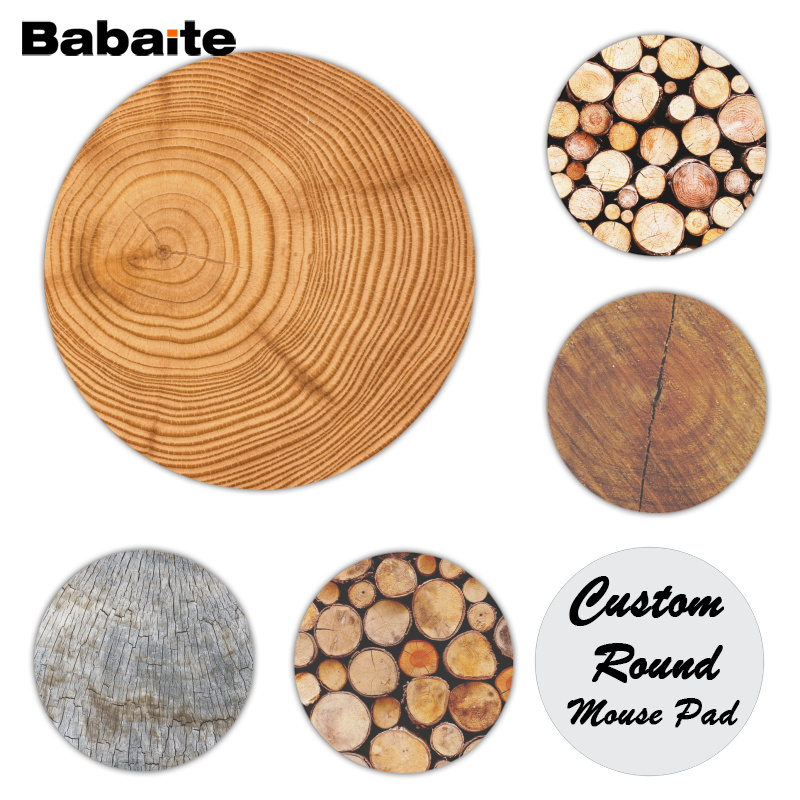 Babaite Wood Grain Comfort Mouse Mat Gaming Mousepad Size for 20x20cm Gaming Mousepads