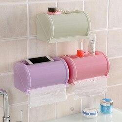 Z tworzywa sztucznego wodoodporna wc uchwyt na papier papier toaletowy pudełko do przechowywania samoprzylepne łazienka uchwyt na papier 4 kolory w Przenośne uchwyty na papier toaletowy od Dom i ogród na
