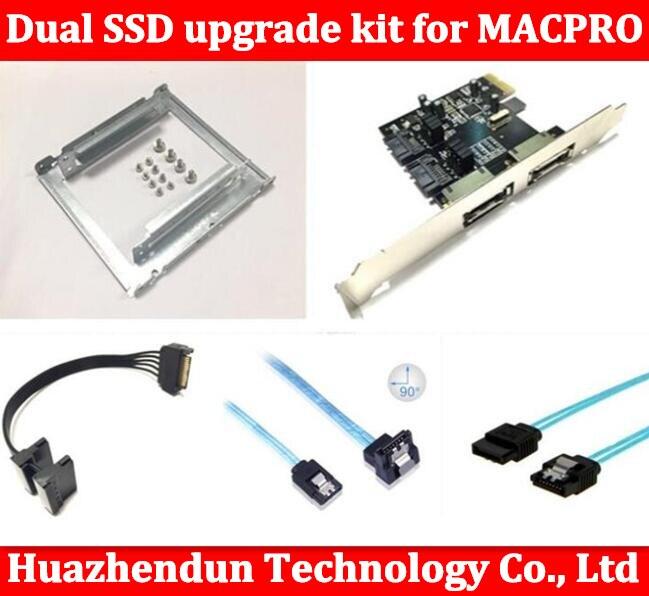 Nouveau Double SSD kit de mise à niveau pour 1.1-5.1 inclued (double ssd plateau/sata câble/sata3 carte/SATA3.0 Disque Dur Câble de Données)