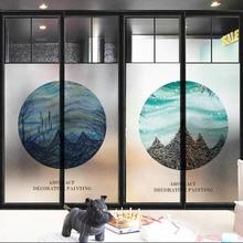 Window Films Static electricity reusable sticker window glass film transparent opaque frost toilet Bathroom