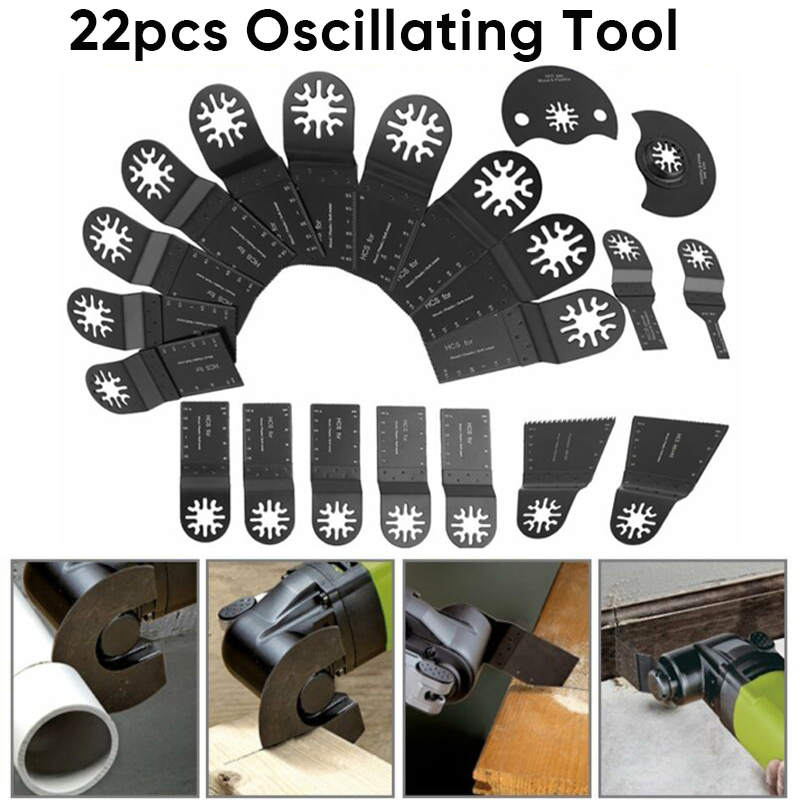 22 pcs/set Oscillating Tools Woodworking Multitool Accessories Quick Release22 pcs/set Oscillating Tools Woodworking Multitool Accessories Quick Release