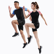 Tight Sportswear Outdoor Women Men Running Sports Set Fitness Workout Tracksuit Gym Sport Suit Student Couple Suits