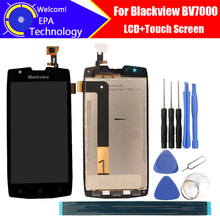 5.0 polegada blackview bv7000 display lcd + tela de toque 100% original novo testado digitador substituição do painel vidro para bv7000 presentes