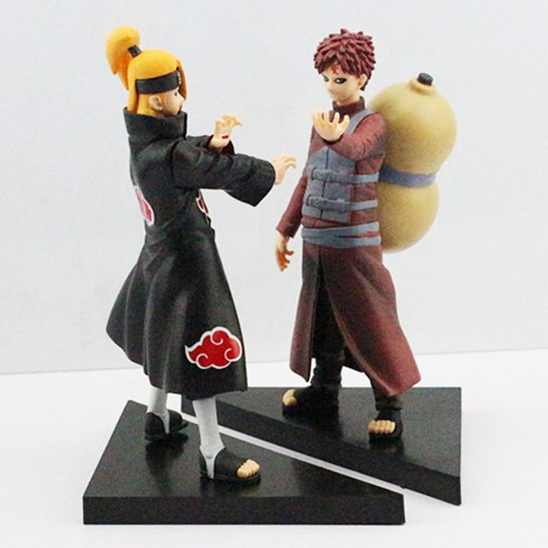 2 шт./компл. аниме наруто гаара дейдара фигурку игрушки из пвх куклы бесплатная доставка