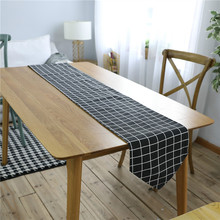 Nodic Print Table Runner Flag Waterproof Solid Modern TV Cabinet Cover Fashion Tablecloth Linen Wedding Party Home Decor