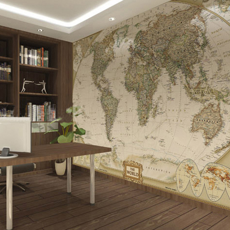 OBAMAS Choice World Map Wall Mural Classic Photo Wallpaper Worthy