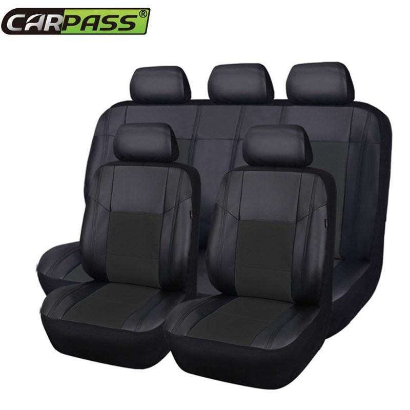 Aliexpress Buy Full Set PU Leather Car Seat Cover